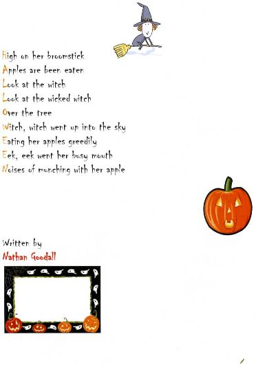 Gallery for gt scary halloween poems for kids